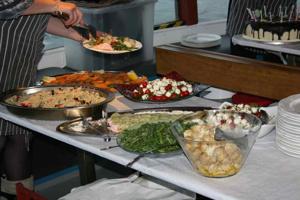 Private Boat Charter Buffet