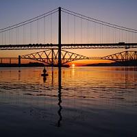 Three Bridges Cruise sunset pic
